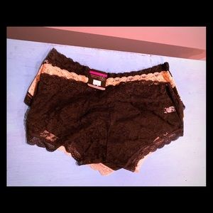 3 Pack of Plus Size Cheeky Hipster Panties